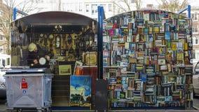 Flea market on Amsterdam,  Netherlands royalty free stock images