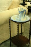 Flea Market Antique Pitcher and Wash Basin Royalty Free Stock Images