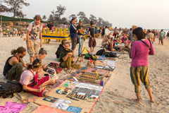 Flea market in Arambol. Stock Image
