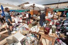 Flea market in Barcelona, Spain Royalty Free Stock Photography