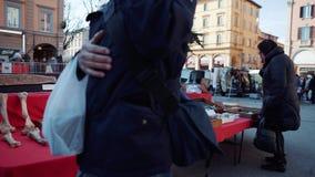 Flea market in Bologna, Italy