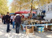 Flea market in Bruges Stock Photography