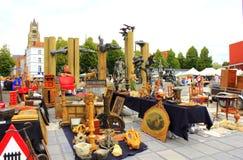 Flea market Bruges Belgium Stock Photo