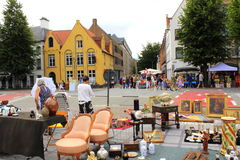 Flea market Bruges Belgium Stock Photos