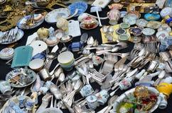 Flea market in Brussels Stock Photo