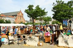 Flea market in Brussels, Belgium Stock Image