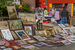 Flea market. At the city of aachen Royalty Free Stock Photography