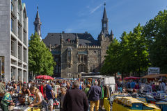 Flea market. At the city of aachen Stock Photo