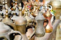 Flea market. Close up details of flea market stall in Doha Qatar Royalty Free Stock Photo