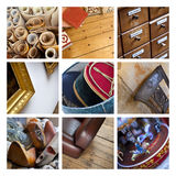 Flea market collage Stock Photography