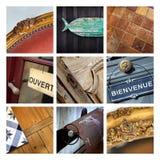 Flea market collage Stock Images