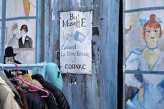 Street art, Flea market in Cornac, France Royalty Free Stock Photo