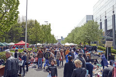Flea market each first day of May in Brussels Stock Photography