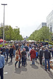 Flea market each first day of May in Brussels Stock Photos