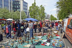 Flea market each first day of May in Brussels Royalty Free Stock Image
