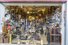Flea market, Els Encants Vells, Barcelona. Stock Images