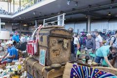 Flea market, Els Encants Vells, Barcelona. Royalty Free Stock Image