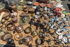 Flea market, Feira Da Ladra, Lisbon Stock Images