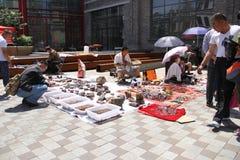 Flea market in Harbin, China stock photos