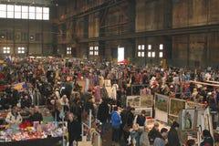 Retro vintage flea market, IJ-Hallen, Amsterdam Stock Image