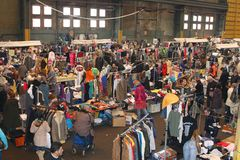 Vintage outlet flea market, IJ-Hallen, Amsterdam Stock Photo
