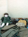Flea Market Items for Sale. Items for sale at an outdoor Raleigh, North Carolina Flea Market—including a stuffed doll dressed in fatigues, sitting in a stock images