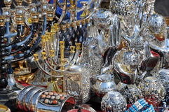 At Flea Market in Jerusalem Stock Photos