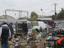 Flea market in Kiev Stock Images