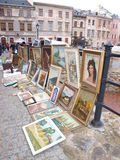 Flea market, Lublin, Poland Stock Photos