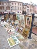 Flea market, Lublin, Poland Stock Photos