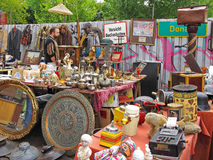 Flea market Mauerpark, Berlin. Booth at the famous flea market Mauerpark taking place every Sunday. Berlin, Germany Stock Images