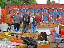 Flea market Mauerpark, Berlin Royalty Free Stock Photos