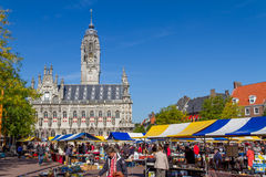 Flea market Middelburg. Flea market at the  marketplace of Middelburg Stock Photography