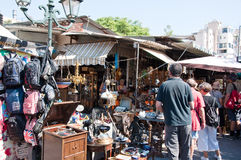 The flea market in Monastiraki on August 4, 2013 in Athens, Greece. Royalty Free Stock Photo