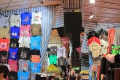 Flea market in Mong Kok in Hong Kong. Royalty Free Stock Images