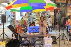 Flea market in Mong Kok in Hong Kong. Stock Photos
