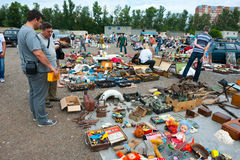 Flea market in Moscow Royalty Free Stock Photography