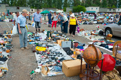 Flea market in Moscow Royalty Free Stock Image