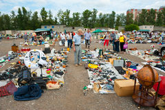 Flea market in Moscow Stock Photos