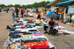 Flea market in Moscow Royalty Free Stock Photos