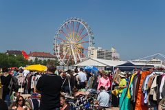 Flea-Market at Munich spring festival Royalty Free Stock Photo