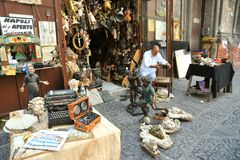 Flea market in Naples , Italy Royalty Free Stock Images