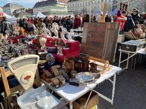 Flea Market At Naschmarkt Vienna royalty free stock image