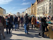 Flea Market At Naschmarkt Vienna stock image