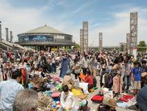 Flea Market at Nissan Stadium in Shin-Yokohama, Japan Royalty Free Stock Photography