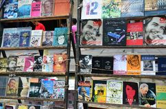 Flea market in old Havana, books about Che and Fidel Royalty Free Stock Images