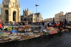 Flea market at Place de Saint Michael Royalty Free Stock Photos