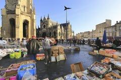 Flea market at Place de Saint Michael Royalty Free Stock Image