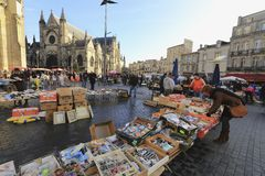 Flea market at Place de Saint Michael Stock Photography