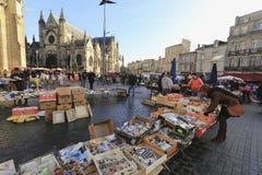Flea market at Place de Saint Michael Stock Photography